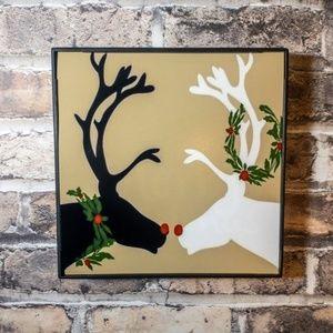 Reindeer Kisses Christmas Frame
